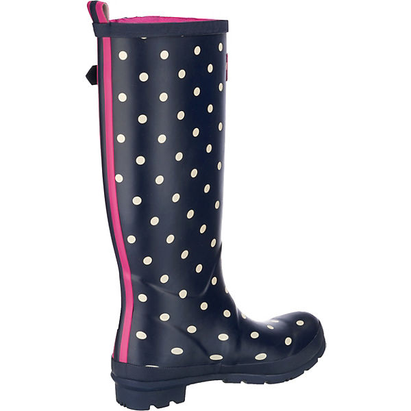 Tom Joule Printed Welly Gummistiefel dunkelblau