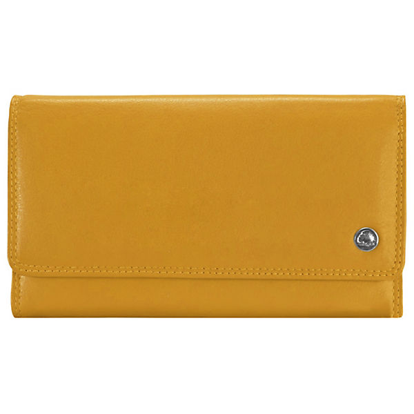 Greenburry Greenburry Spongy Geldbörse Leder 18 cm gelb