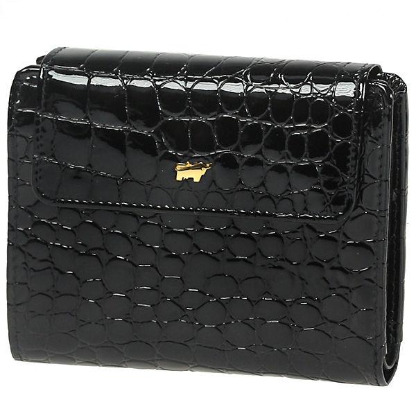 Braun Büffel Braun Büffel Glanzkroko Geldbörse Leder 12,5 cm schwarz