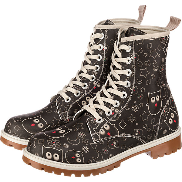 Dogo schwarz Stiefel Shoes Dogo Owl Shoes kombi Lover f4w5qRF