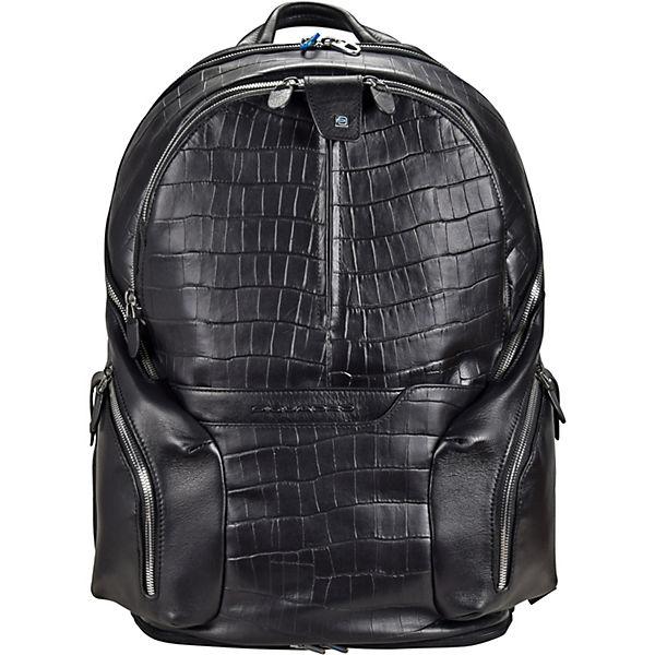 Piquadro Piquadro Coleos S05 Rucksack Leder 42,5 cm Laptopfach schwarz