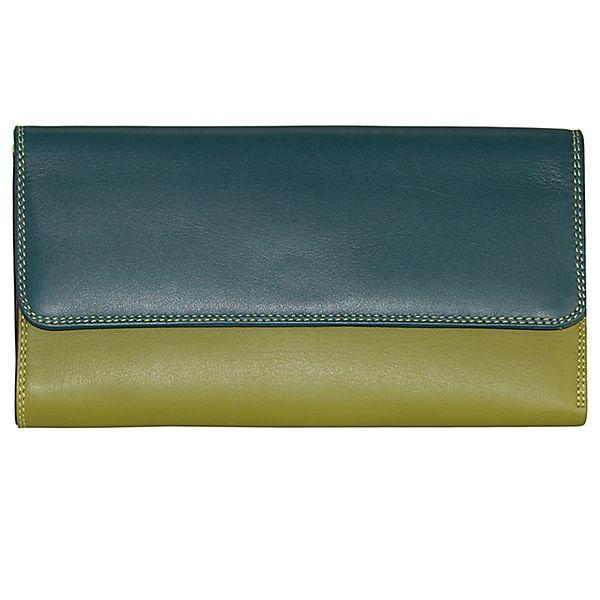 Mywalit Mywalit Tri-fold Zip Wallet Geldbörse Leder 17 cm mehrfarbig
