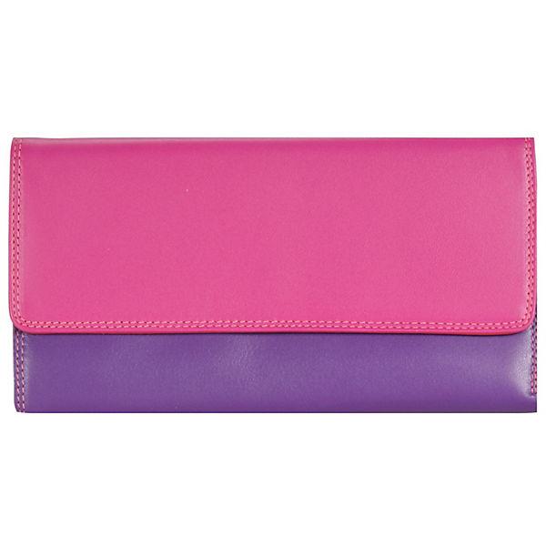 Mywalit Mywalit Tri-fold Zip Wallet Geldbörse Leder 17 cm lila
