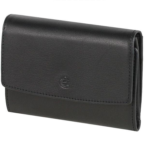 Esquire Esquire Logo Geldbörse Leder 11,5 cm schwarz