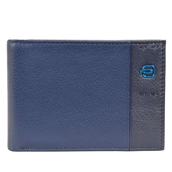 12 Cm Geldbörse Blau Leder Piquadro Pulse TKcJ3lF1