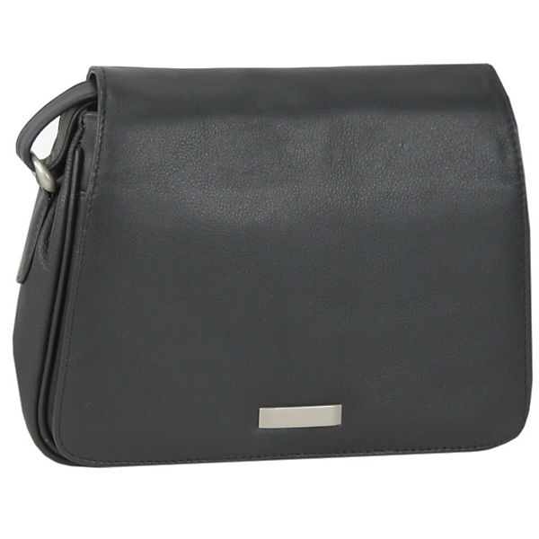 Mika Lederwaren Soft Nappa Damentaschen Flap Bag Leder 28 cm