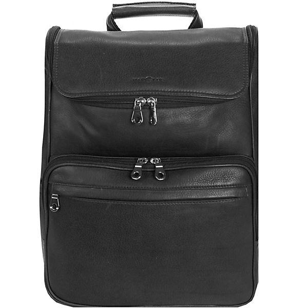 Harold's Harold's Country Rucksack Leder 38 cm Laptopfach schwarz