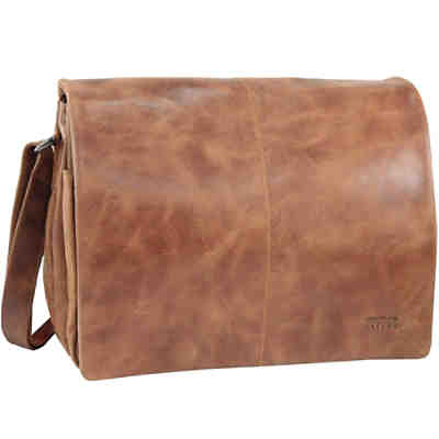 GreenLand NATURE Light Messenger veredeltes Leder 34 cm