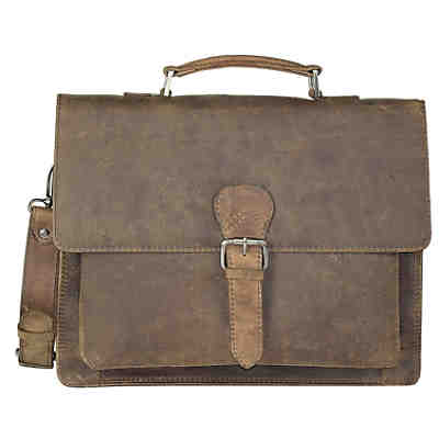 Harold's Antik Casual Aktentasche Leder 36 cm Laptopfach