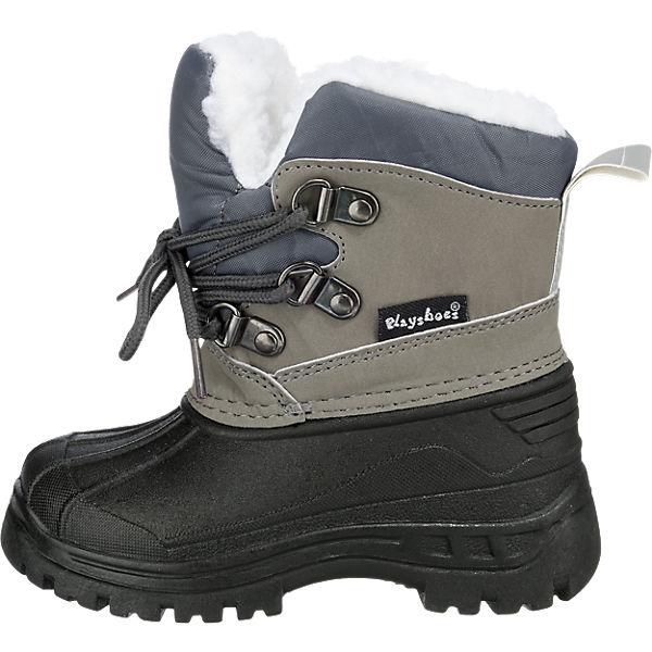 Playshoes Baby Winterstiefel grau