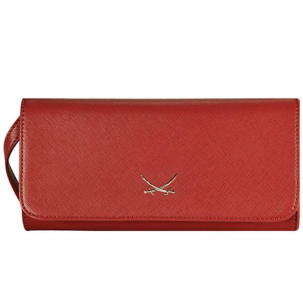 Schipkau Annahütte Angebote Sansibar Chic Clutch Tasche 24,5 cm Handyfach rot Damen