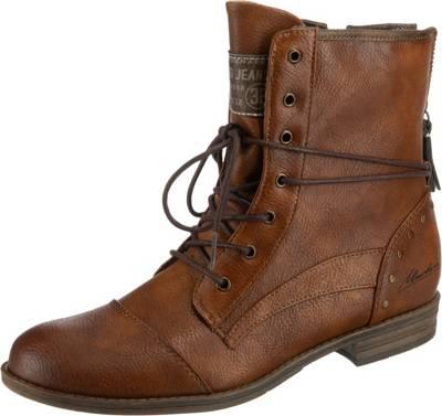 5 Mustang Herren Boots Gefüttert Stiefel Schnürstiefelette