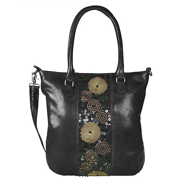 Billy the Kid Zari Handtasche Leder 28 cm