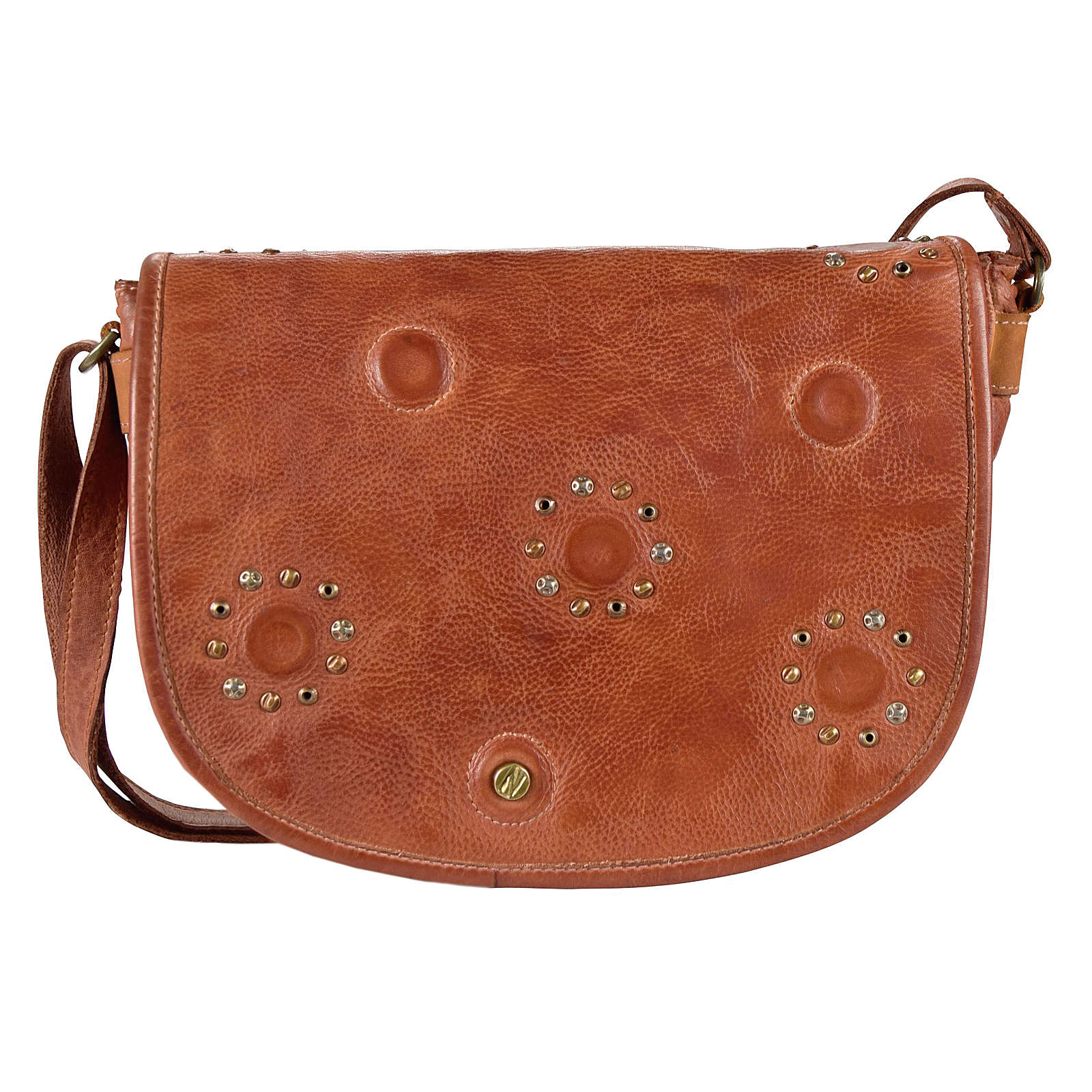 Greenburry Riveted Umhängetasche Vanessa Leder 30 cm orange Damen