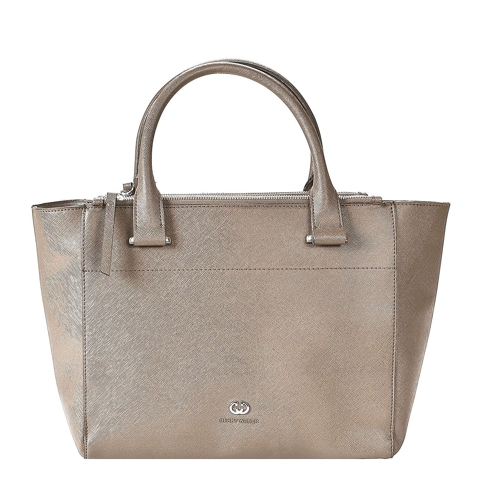 Sparkle Shopper Tasche 30 cm Gerry Weber light grey - broschei