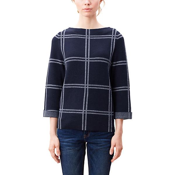 s dunkelblau Pullover Pullover s Oliver Oliver E0w478Tq