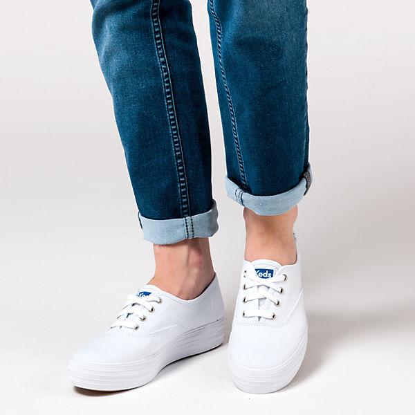 Keds Keds Triple Seas Solid Canvas Sneakers weiß