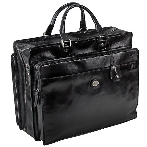 The Bridge The Bridge Story Uomo Bordtasche Aktentasche Leder 45 cm schwarz
