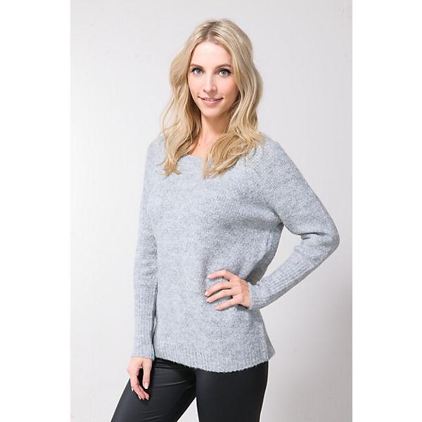 VILA hellgrau Pullover Pullover VILA 4gTqwYg