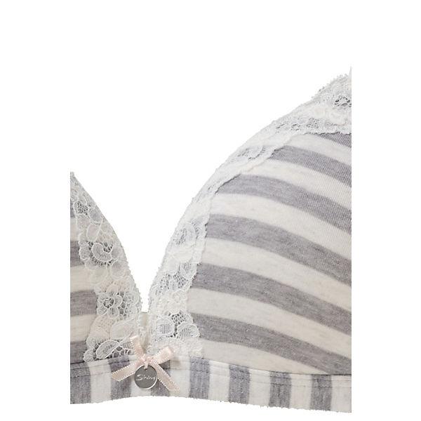 Cotton Mix grau Triangel weiß Skiny Sweet BH qFxgwft4