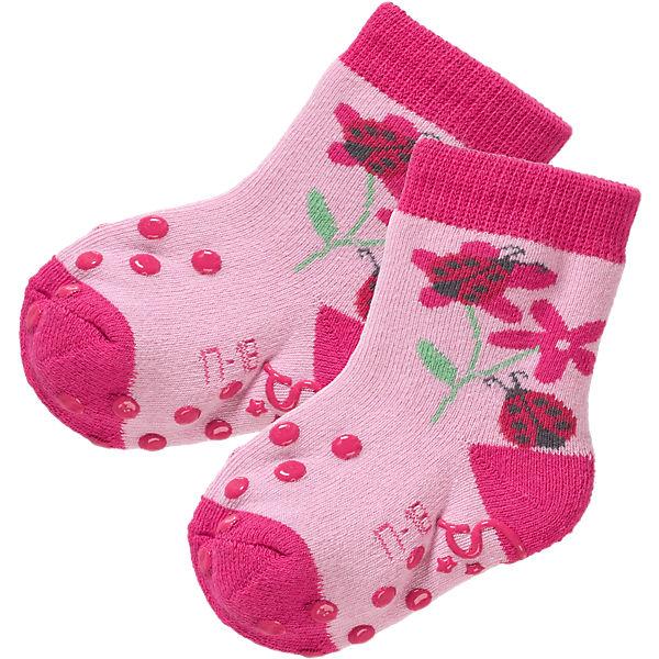 Sterntaler Baby ABS-Krabbelsöckchen Doppelpack für Mädchen rosa