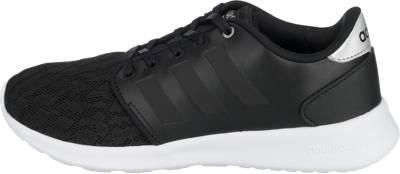 Los hombres de adidas neo cloudfoam carrera corriendo la formación negro sneaker