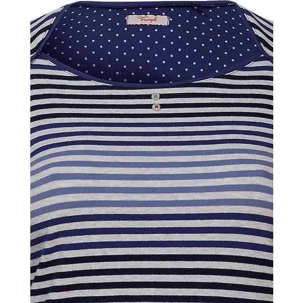 weiß blau Dots Stripes and Nachthemd Triumph xp0qZn