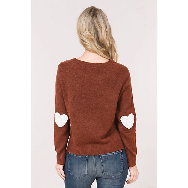 braun ONLY rot Pullover rot ONLY Pullover aawq8xC4Z