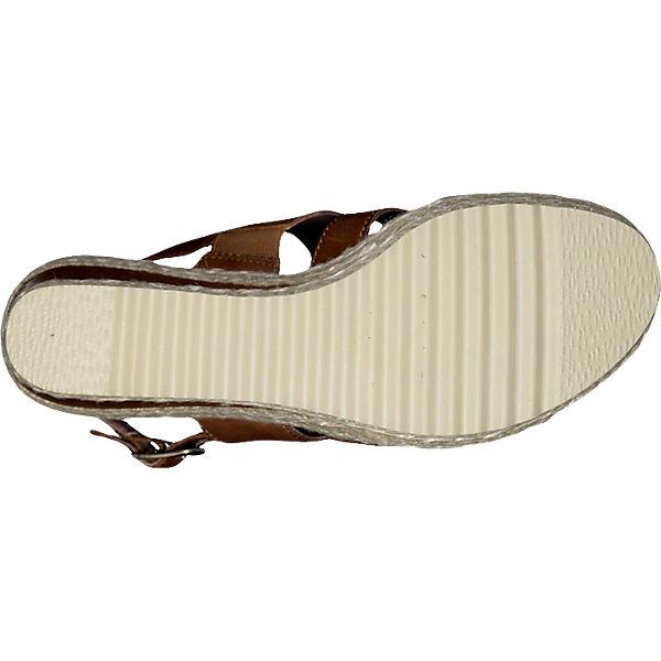 Be Natural Be Natural Stuka Sandaletten braun