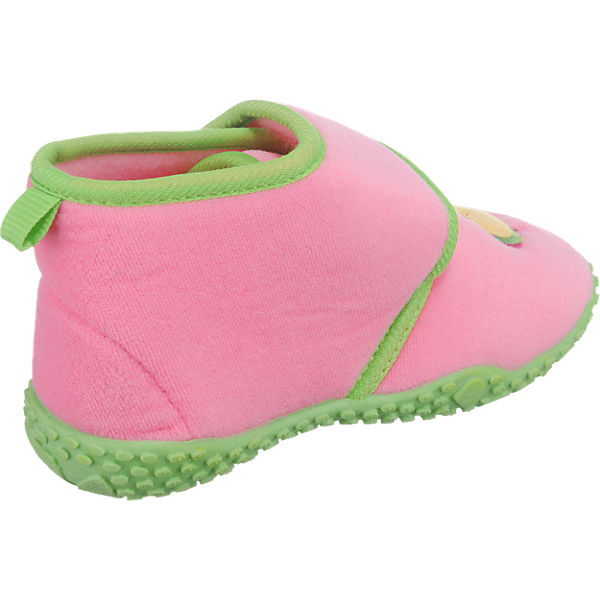 Playshoes Baby Hausschuhe Eule rosa