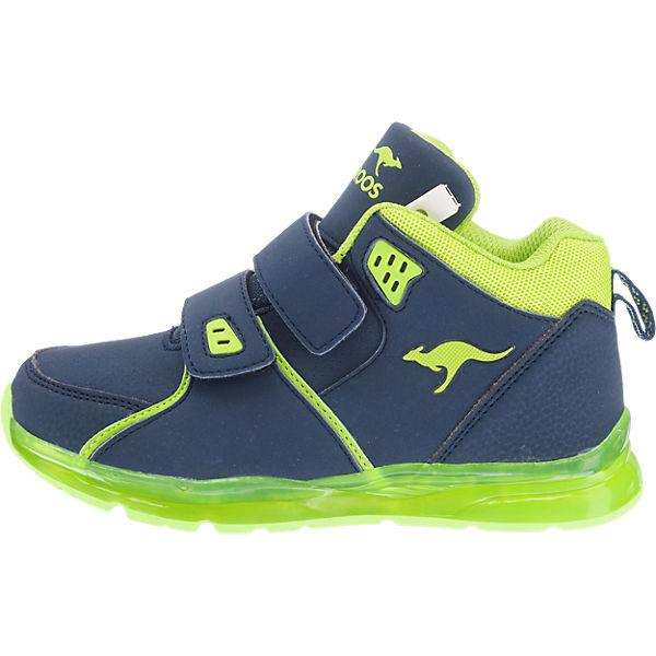 kangaroos sneakers high blinkies mit led sohle k lev vii f r jungen blau mirapodo. Black Bedroom Furniture Sets. Home Design Ideas