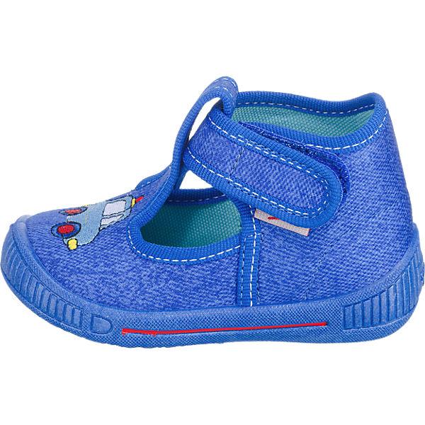 superfit Kinder Hausschuhe BULLY, WMS-Weite M3 blau