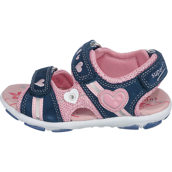 superfit Kinder Sandalen, WMS-Weite M4 blau-kombi