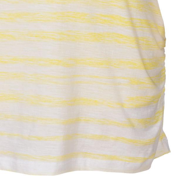 blue mit weiß gelb T Shirt Top rSr0q