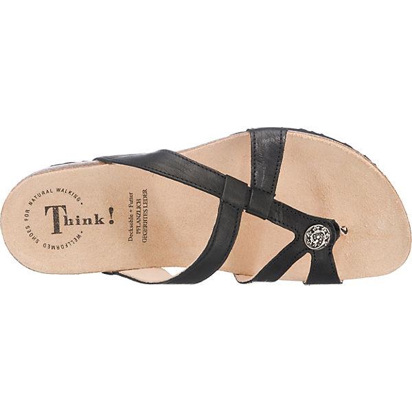 Think!, Think! Gute JULIA Pantoletten, schwarz  Gute Think! Qualität beliebte Schuhe a6078c