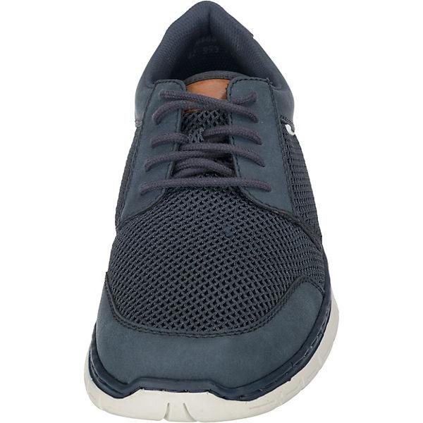 rieker,  Sneakers Low, blau-kombi   rieker, b9ac77