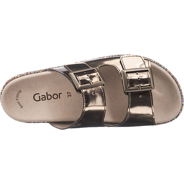 Gabor Gabor Pantoletten gold