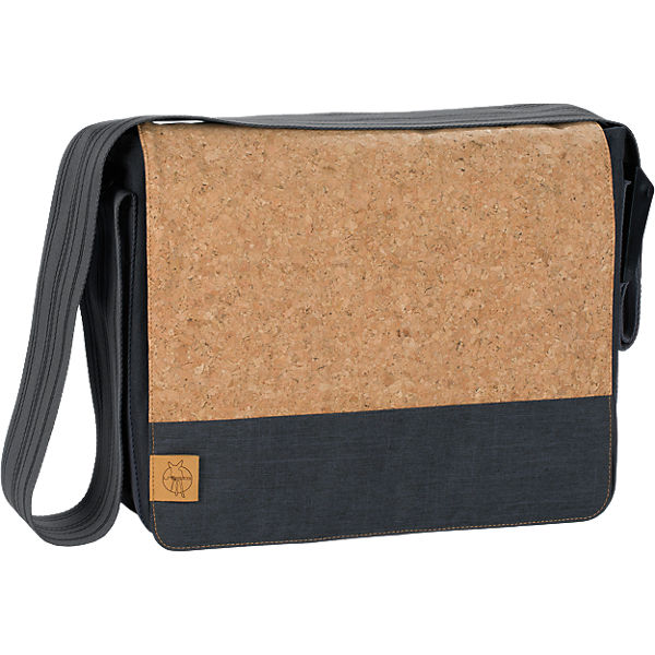 Wickeltasche, Casual, Messenger Bag, Cork, Dark Grey