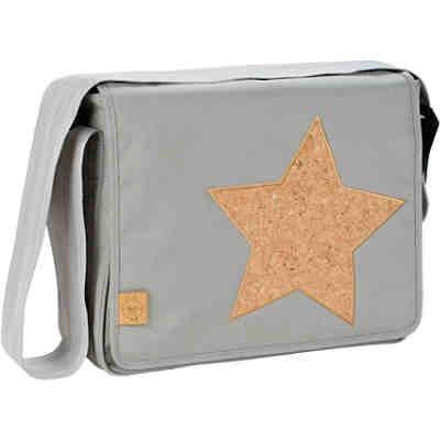 Wickeltasche, Casual, Messenger Bag, Cork Star, Light Grey