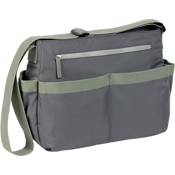 Wickeltasche Marv, Shoulder Bag, grey