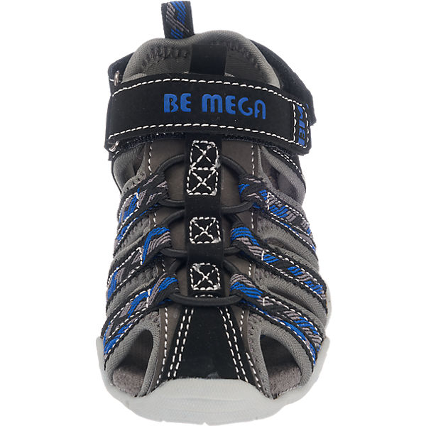 Be Mega Sandalen für Jungen grau-kombi