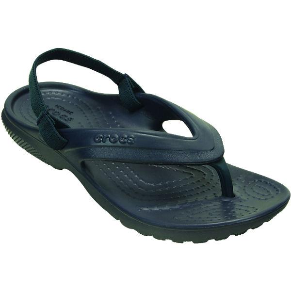 crocs Kinder Zehentrenner Classic Flip dunkelblau
