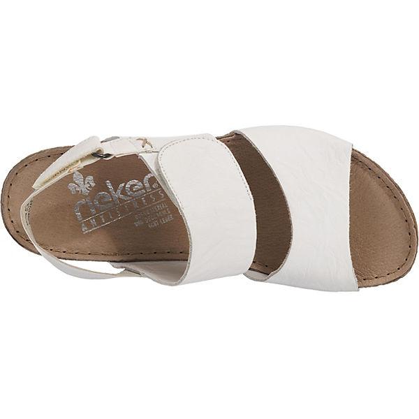 rieker Massa Plateau-Sandaletten weiß