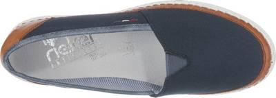 rieker, 5127061 Klassische Slipper, blau kombi