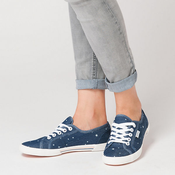 Pepe Jeans Pepe Jeans Aberlady Star Jeans Sneakers dunkelblau