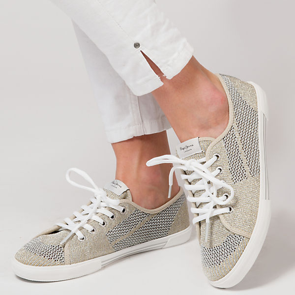 Jeans Pepe Pepe Fishnet Sneakers gold Aberlady Jeans Metal 46xqwv