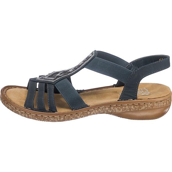 Rieker, New New Rieker, York Komfort-Sandalen, blau Gute Qualität beliebte Schuhe 4a3c94