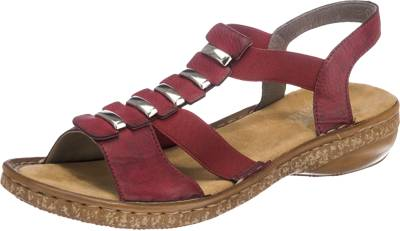 rote rieker sandale