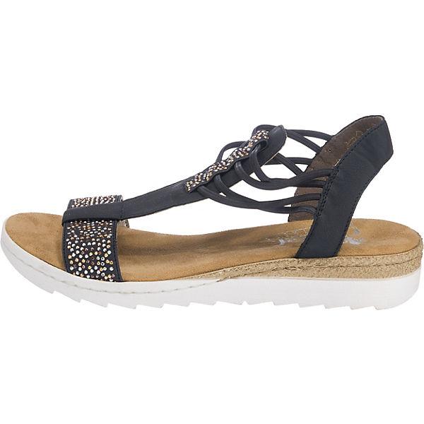rieker, rieker Sandaletten, dunkelblau Schuhe  Gute Qualität beliebte Schuhe dunkelblau cf0896