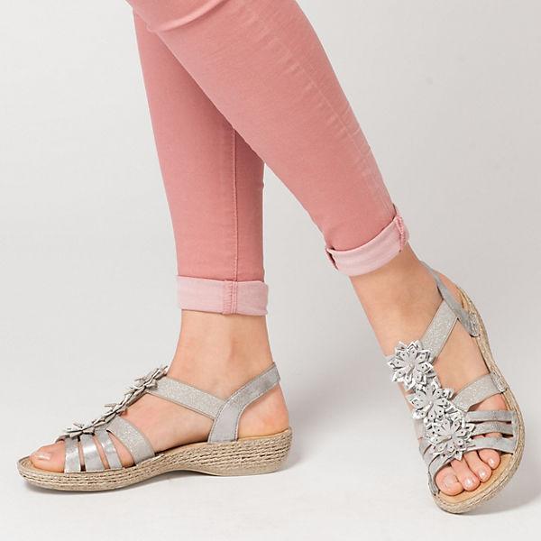rieker, Space/Mirror Riemchensandaletten, grau  Gute Qualität beliebte Schuhe
